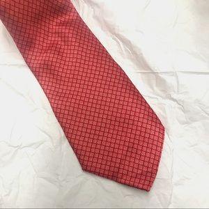 Luxury Brioni Handmade Silk Tie in Red Pattern